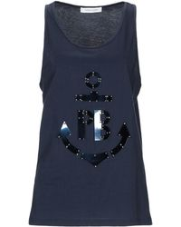 a6822eab06e9a5 Lyst - Women s Balmain Sleeveless and tank tops On Sale