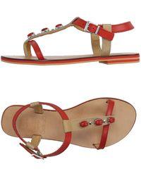 Vintage Del Forte 1973 - Toe Strap Sandal - Lyst