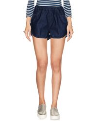 People - (+) People Denim Shorts - Lyst