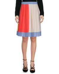 Twisty Parallel Universe - Knee Length Skirts - Lyst