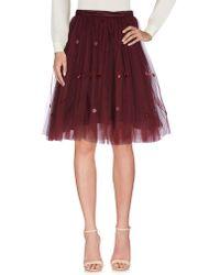 Au Jour Le Jour - Knee Length Skirt - Lyst