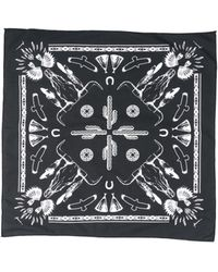 Paura Square Scarf - Black