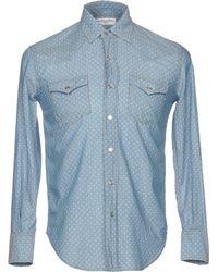 Saint Laurent - Denim Shirt - Lyst
