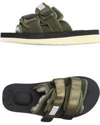 Suicoke - Moto-VM Leather & Nylon Sandals - Lyst