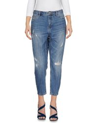 ONLY - Denim Trousers - Lyst