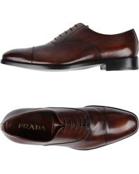 Prada - All Designer Products - Lace-up Shoes - Lyst