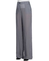 Armani Jeans - Diamond Print Wide Leg Trousers - Lyst