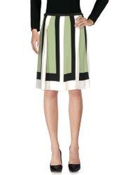 Valentino - Colorblock Short Pleated Skirt - Lyst