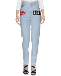 Au Jour Le Jour - Denim Trousers - Lyst