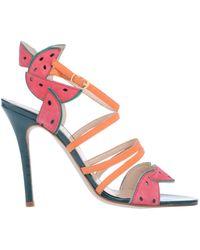 721466f2298 Lyst - Camilla Elphick Sandals in Orange