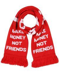 MAKE MONEY NOT FRIENDS - Oblong Scarf - Lyst