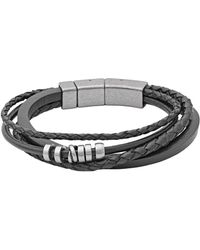 Fossil - Vintage Casual Braided Men's Bracelet - Lyst