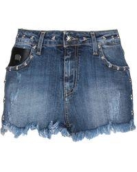 John Richmond - Shorts jeans - Lyst