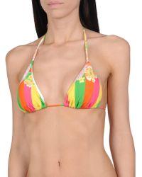 ec2bfc145734d Versace Bikini Top in Metallic - Lyst