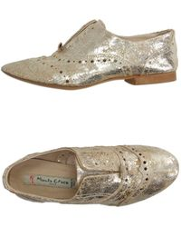 Manila Grace - Laceless Distressed-Leather Moccasins - Lyst