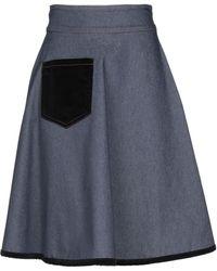 Annie P - Denim Skirt - Lyst