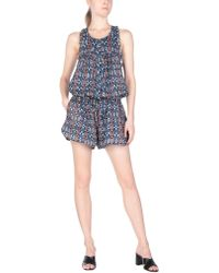 c02ebe3d2fc2 Lyst - Étoile Isabel Marant Wei Chambray Playsuit in Blue