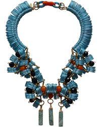 Kirsty Ward - Light Blue, Orange & Black Pendant - Last One - Lyst