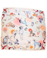 Klements - Good Boy Square Silk Scarf Featuring Ted - Lyst