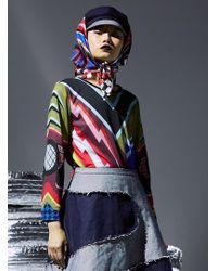 Sadie Williams - Printed Jersey Long Sleeve Top - Lyst