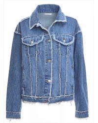 REMAIN STUDIO - Oversized & Frayed Denim Jacket - Lyst