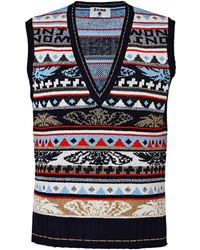 J.won - Angel Fair Isle Knit Vest - Lyst