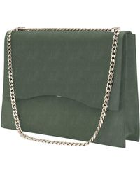 Gvyn - Aden Shoulder Bag In Olive Suede - Lyst