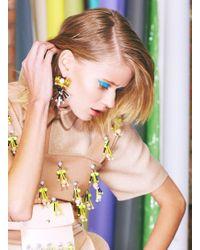 Kirsty Ward - Embellished Yellow Column Earrings - Lyst