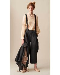 Renli Su - Artisan Curved Leg Trousers With Detachable Suspenders - Lyst