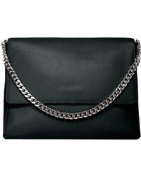 Gvyn - Yael Black Leather Bag With Silver (last One) - Lyst