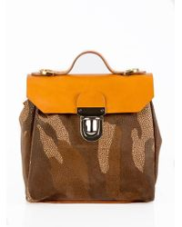 Jam Love London - Hillmini Urban Messenger In Tan Camouflage - Lyst