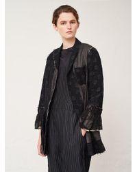 Renli Su - Black Patchwork Jacket - Lyst