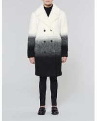 Native Youth - Boucle Textured Gradient Overcoat - Lyst