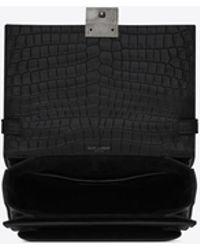 888838dbaf72 Lyst - Saint Laurent Monogram Baby Shoulder Bag in Black