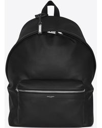 Saint Laurent - City Backpack In Black Washed Leather - Lyst