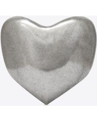 Saint Laurent - Love Heart Bracelet In Silver Metal - Lyst