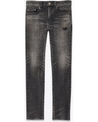 Saint Laurent - Jean skinny en denim stretch tokyo black - Lyst