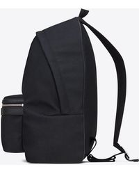 1a6b4833678a8c Saint Laurent - Classic Hunting Backpack In Navy Blue Nylon Canvas And  Black Leather - Lyst