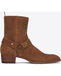 Saint Laurent - Harness-strap Wyatt Boots - Lyst