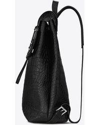Saint Laurent - Sac à dos sac de jour souple en cuir embossé crocodile - Lyst
