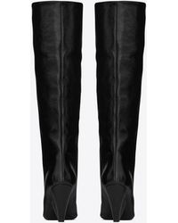 Saint Laurent - Niki 85 Boot In Black Moroder Leather - Lyst