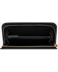 Saint Laurent - Paris Zip Around Wallet In Black Leather - Lyst