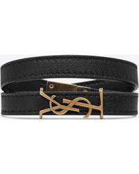 Saint Laurent - Opyum Double Wrap Bracelet - Lyst