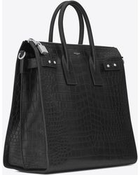 Saint Laurent - Sac De Jour North/south Tote In Crocodile Embossed Leather - Lyst