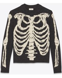 Saint Laurent - Skeleton Jacquard Knit - Lyst