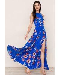 97e67b2f2acfb Free People Womens Dazed Dream Maxi Dress in Black - Lyst