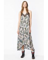 Zadig & Voltaire - Robe risty paisley - Lyst