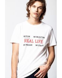 Zadig & Voltaire - Tibo Real Life T-shirt - Lyst