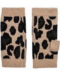 Zadig & Voltaire - Scot Leopard Cashmere Fingerless Gloves - Lyst