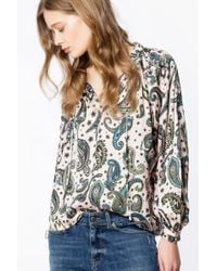 Zadig & Voltaire - Tunique theresa print paisley - Lyst